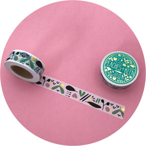 3 pack Washi Tape with Gold Foiled Details