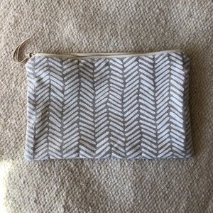 Two Directions Large Zipper Pouch