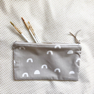 Gray Cups Zip Pouch