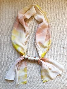 Silk + Ceramic Necklace I
