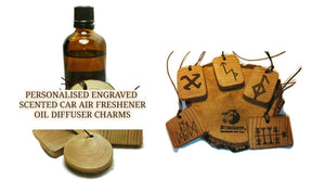 Handmade Scented Oil Infused Wooden Car home Air Freshener Charms