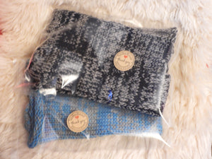 Blue and Grey Mix Handmade Socks by Retrosheep.com