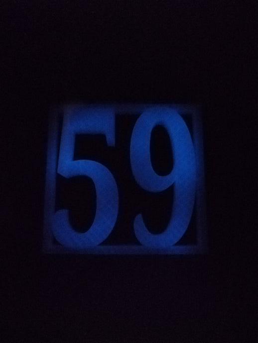 Glow in the Dark House Door Numbers #Glow