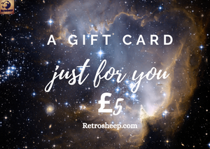 £5 -£100 Gift Cards now available to spend at Retrosheep.com