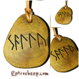 Personalised Engraved Handmade Rune Necklaces Keyrings Pendant Charms Runic Binding Spells #Rune