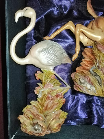 Mweupe the flamingo From the Earth Figurine Ann Richmond  #FromtheEarth