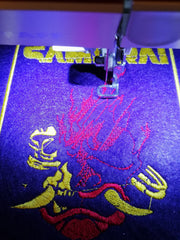 Cyberpunk Samurai Personalised Embroidered Iron On Patch by Retrosheep.com