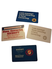 Covid Mask Exemption Cards By Retrosheep