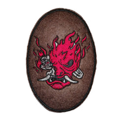 Samurai Punk Embroidered Patch by #Retrosheep