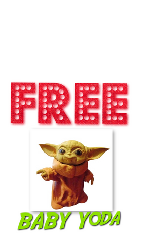 Free baby Yoda by Retrosheep