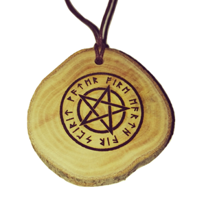 White Pentagram Occult choker Pendant Handmade Wooden Charm Natural Personalised Necklace Earrings Keyring Charms #Handmade