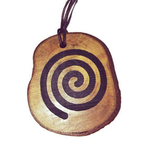 The Spiral Nazca Lines Inspired Handmade Necklace Wooden Eco Friendly Wood Rustic Jewellery Gift Charms #NazcaLines