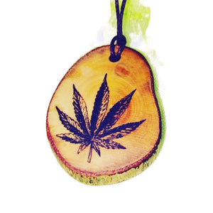 Cannabis Leaf Hemp Marijuana Necklace Pendant Wooden Charm Natural Necklace Earrings Keyring Charms #Cannabis #420 #CBD