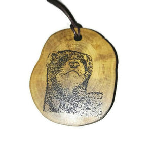 Ferret Polecat choker Pendant Handmade Wooden Charm Natural Personalised Necklace Earrings Keyring Charms #Handmade