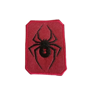Black Widow Spider Red Metalic Punk Patch Iron On Patches by Retrosheep.com