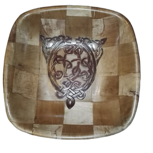Celtic Dogs Norse Viking Bamboo Basket Bowl #Celtic