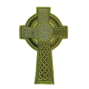 Celtic Cross Nimbus Ring Iron On Patch Extra Large #CelticCross