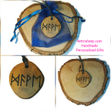 DAVE OR YOUR NAME ENGRAVED IN RUNIC VIKING RUNE NECKLACE #Rune