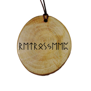 Your name in Elder Futhark - Proto Germanic  Text Engraved wood Necklace