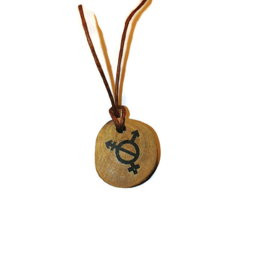 Transexual Transgender Symbol Handmade Wood Necklace Earrings Keyring #Transexual