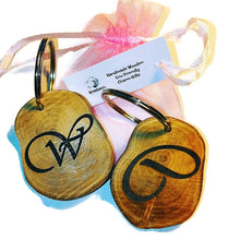 Personalised Keyring  Engraved Handmade Wood Key Fob Key Ring Custom Image / Text / Logo  #Keyring