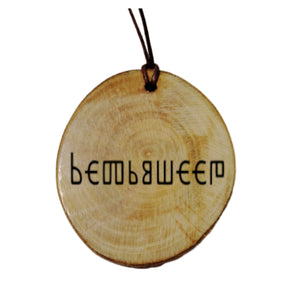 Your Name Engraved Glagolitic Rune Church Slavonic Personalised Wood Necklace
