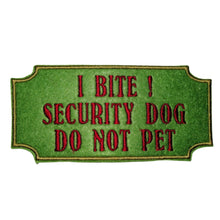 Warning I Bite Do Not Pet - Security Dog Harness Patch By Retrosheep.com