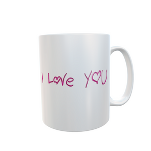 I Love You Mug Valentine's Gift Tea Coffee #ILoveYou