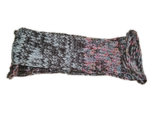 Brown Pink Rainbow Mix Handmade Hand Knit Wool Socks