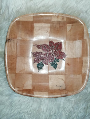 Christmas Poinsettia Bowl Table Decor Basket Bowl #Poinsettia
