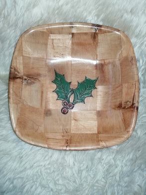 Christmas Holly Serving Bowl Home Table Decor Basket Bowl #Holly