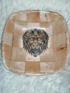 African Lion Serving Bowl Home Table Decor Basket Bowl #Lion