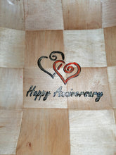 Happy Anniversary Heart Serving Bowl Home Table Decor Basket Bowl #Anniversary