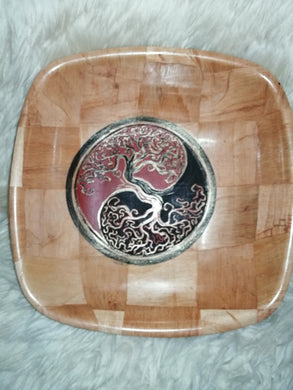 Tree of Life Yggdrasil Yin Yang Serving Bowl Home Table Decor Basket Bowl #Treeoflife