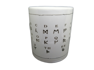 Runic Alphabet Rune Mug Tea Coffee Mugs Gift #Runic