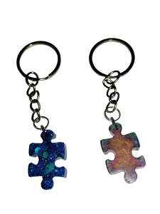 Him And Hers Jigsaw Puzzle Keyrings