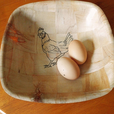Chicken Serving Bowl Home Table Decor Basket Bowl #Chicken