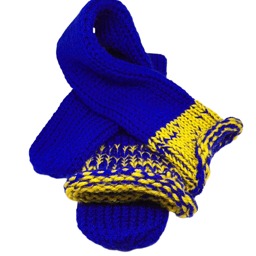 Blue And Yellow Top Knitted Handmade Wool Unisex bed sofa Socks Casual Novelty Custom Personalised Socks #Socks #Retro