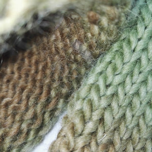 100% Pure Sheep Wool Socks Handmade Knitted  Green Gold #Socks #Retro