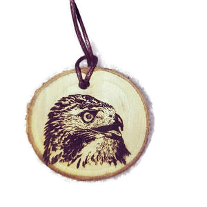 American Red Tailed Hawk Buzzard Necklace Pendant Handmade Wooden Charm Natural Personalised Necklace Earrings Keyring Charms #RedTailHawk