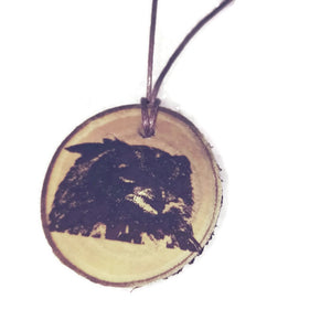 Eurasian Eagle Owl Necklace Pendant Handmade Wooden Charm Natural Personalised Necklace Earrings Keyring Charms #Owl