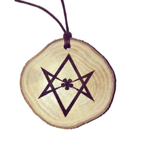 Aleister Crowley Unicursal Hexagram Occult choker Pendant Handmade Wooden Charm Natural Personalised Necklace Earrings Keyring Charms #Handmade