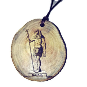 Osiris Priest God Egyptian Deities Anubis god of embalming and the dead Necklace Wooden Charm #Osiris