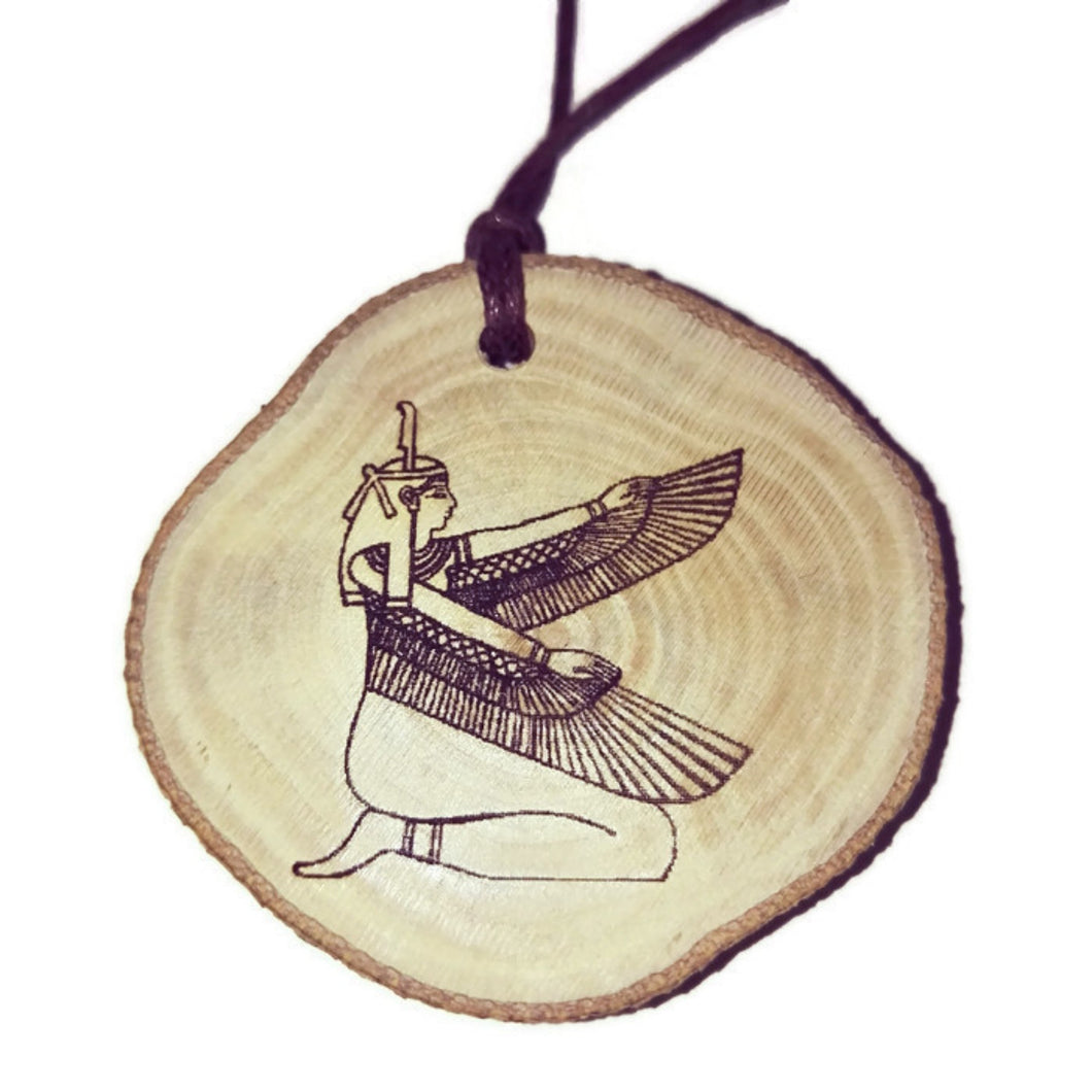 Goddess Isis Hieroglyph Symbol Scented Wooden Oil Diffuser Home Car Air Freshener #Isis