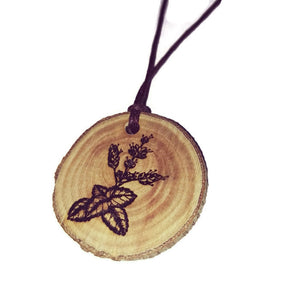 Patchouli flower Necklace Pendant Wooden Charm Natural Necklace Earrings Keyring Charms #Patchouli