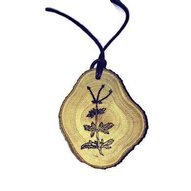 Spanish Verbena flower Necklace Pendant Wooden Charm Natural Necklace Earrings Keyring Charms #SpanishVerbena