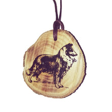 Border Collie Lassie Dog choker Pendant Handmade Wooden Charm Natural Personalised Necklace Earrings Keyring Charms #Handmade
