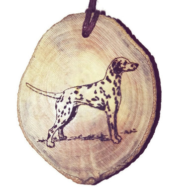 Dalmatian Dog choker Pendant Handmade Wooden Charm Natural Personalised Necklace Earrings Keyring Charms #Handmade