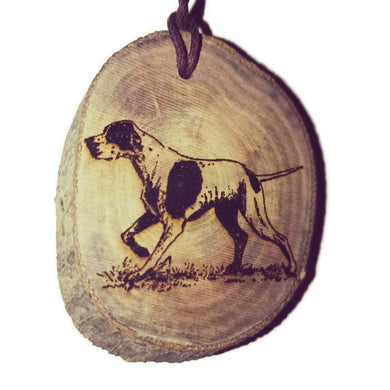 German Shorthaired Pointer Dog choker Pendant Handmade Wooden Charm Natural Personalised Necklace Earrings Keyring Charms #Handmade