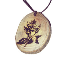 Evening Primrose Flower Necklace Pendant Wooden Charm Natural Necklace Earrings Keyring Charms #EveningPrimrose